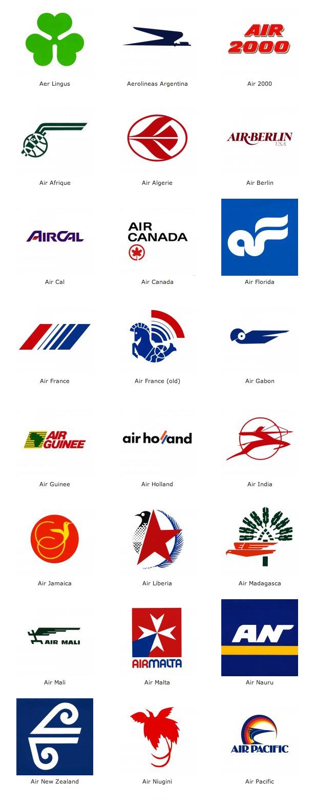 International airline logos